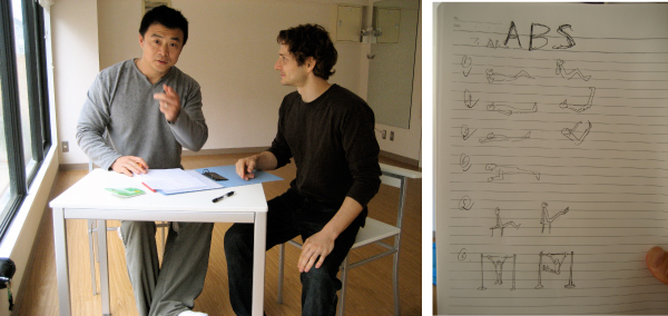 Chen and Patrick during early planning session.
